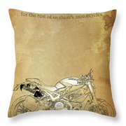 Ducati Motorcycle Quote Throw Pillow