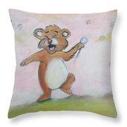 Duck, Bear,owl Throw Pillow