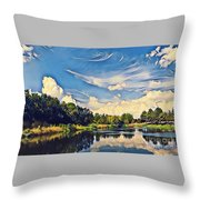 Reflections At Duck Creek Throw Pillow
