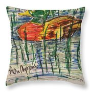 Duck Decoy Throw Pillow