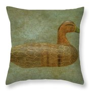 Duck Decoy Number Three Throw Pillow