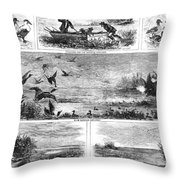 Duck Hunting, 1868 Throw Pillow