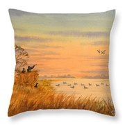 Duck Hunting Calls Throw Pillow