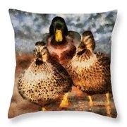 Duck - Id 16235-220308-3425 Throw Pillow