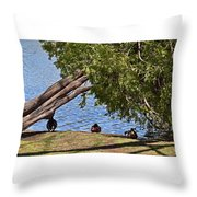 Duck Into The Shade Throw Pillow