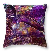 Duck Mallard Anatidae Duck Bird  Throw Pillow