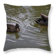 Duck Pair Throw Pillow