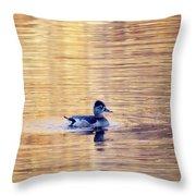 Duck Pond 3 Throw Pillow