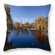 Duck Pond Public Gardens Boston Massachusetts Throw Pillow