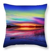 Duck Sunset Throw Pillow