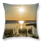Duck Town Sunset II Throw Pillow