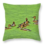 Duck Weed Club Throw Pillow