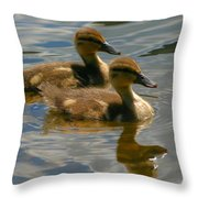 Ducklings Throw Pillow