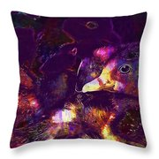 Ducklings Young Cute Animals Duck  Throw Pillow