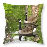 Ducks Out For A Swim Throw Pillow