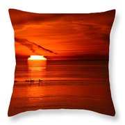 Ducks Swimming By At 6.31.10 Am  Throw Pillow