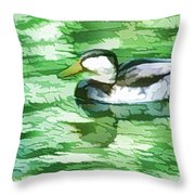 Ducks Swimming In A Pond Throw Pillow