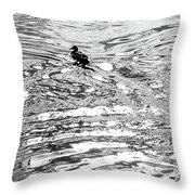 Ducks Swirl Throw Pillow