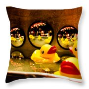 Ducky Reflections Throw Pillow