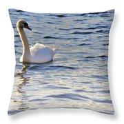 Duddingston Swan 1 Throw Pillow