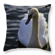Duddingston Swan 13 Throw Pillow