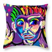 Dude Doodle Throw Pillow