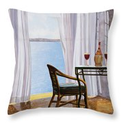 Due Rossi Al Mare Throw Pillow