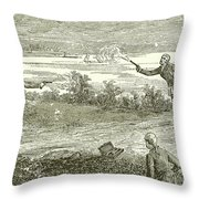 Duel Between Alexander Hamilton And Aaron Burr Throw Pillow