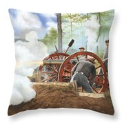 Duel Over Utoy Throw Pillow