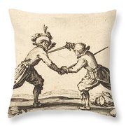 Duel With Swords Throw Pillow