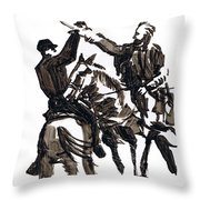Dueling Sabres Throw Pillow
