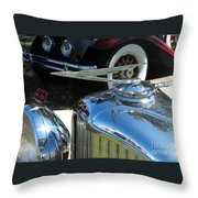 Duesenberg Hood Ornament  Throw Pillow