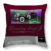 Duesenberg Model J Throw Pillow