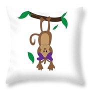 Duffworkscreative_monkeyfunlove_hangin Throw Pillow
