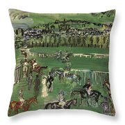 Dufy: Race Track, 1928 Throw Pillow