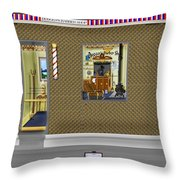 Dugger's Barber Shop Throw Pillow
