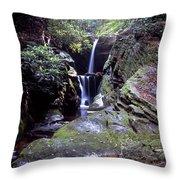 Duggers Creek Falls Throw Pillow