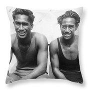 Duke And Sam Kahanamoku Throw Pillow