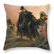 Duke Of Angouleme At The Capture Of Trocadero Throw Pillow