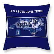 Duke University Blue And White Products Throw Pillow