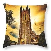 Duke University Chapel At Dusk Throw Pillow