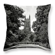 Duke University Chapel Throw Pillow