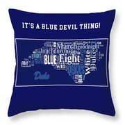 Duke University Fight Song Products Throw Pillow