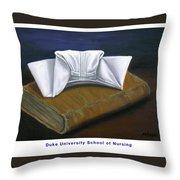 Duke University School Of Nursing Throw Pillow