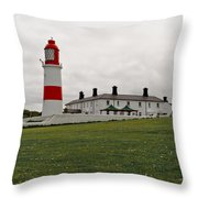 Dull Day At The Seaside. Throw Pillow