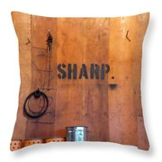 Dull Sharp Throw Pillow