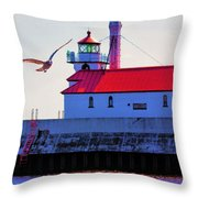 Duluth Lighthouse Throw Pillow