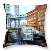 Dumbo Bridge Throw Pillow