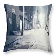 Dumbo, Brooklyn, Nyc At Night Throw Pillow