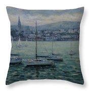 Dun Laoghaire Harbour Dublin Throw Pillow